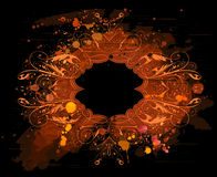 Blocco per grafici floreale dell'acquerello illustrazione di stock