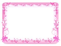 Blocco per grafici floreale dell'annata - colore rosa Fotografia Stock