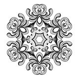 Blocco per grafici floreale dell'annata Elemento per progettazione Immagine Stock