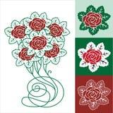 Blocco per grafici floreale della sorgente, Rosa illustrazione vettoriale