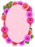 Blocco per grafici floreale di ellisse con i fiori dentellare Fotografie Stock Libere da Diritti