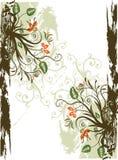 Blocco per grafici floreale di Grunge Illustrazione Vettoriale