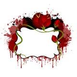 Blocco per grafici floreale di Grunge Fotografia Stock