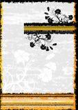 Blocco per grafici floreale di Grunge, vettore Fotografia Stock