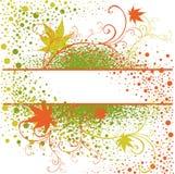 Blocco per grafici floreale di verde del grunge dell'annata di vettore Fotografia Stock