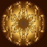 Blocco per grafici floreale dorato Immagine Stock Libera da Diritti