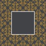 Blocco per grafici floreale dorato Fotografia Stock