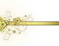 blocco per grafici floreale dorato Immagine Stock