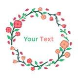 Blocco per grafici floreale luminoso Immagine Stock