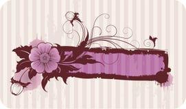 Blocco per grafici floreale per il vostro testo illustrazione di stock