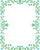 Blocco per grafici floreale verde Fotografie Stock Libere da Diritti