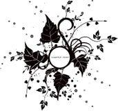 Blocco per grafici floreale - vettore Immagine Stock