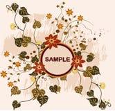 Blocco per grafici floreale - vettore Fotografia Stock