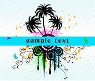 Blocco per grafici floreale - vettore royalty illustrazione gratis