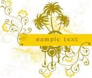 Blocco per grafici floreale - vettore illustrazione di stock