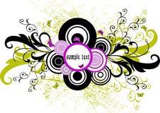 Blocco per grafici floreale - vettore Fotografia Stock Libera da Diritti