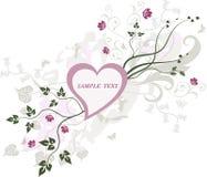 Blocco per grafici floreale - vettore Fotografie Stock