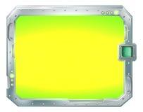 Blocco per grafici futuristico del bordo del segno o dello schermo Immagine Stock Libera da Diritti