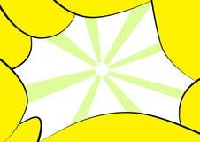 Blocco per grafici giallo astratto Fotografia Stock Libera da Diritti