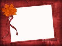 Blocco per grafici Grungy con le foglie di acero Fotografie Stock Libere da Diritti