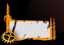 Blocco per grafici industriale nero ed arancione Fotografia Stock Libera da Diritti