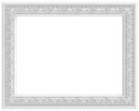 Blocco per grafici intagliato bianco per la maschera isolata su bianco illustrazione di stock