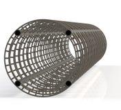 Blocco per grafici interno della costruzione della struttura d'acciaio Fotografie Stock