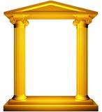 Blocco per grafici ionico dell'oro Immagini Stock