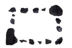 Blocco per grafici isolato - carbone, pepite del carbonio Fotografia Stock Libera da Diritti