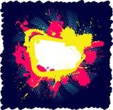 Blocco per grafici luminoso del grunge Fotografie Stock