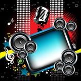 Blocco per grafici musicale Immagini Stock