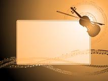 Blocco per grafici musicale del violino Immagine Stock