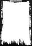 Blocco per grafici nero di Brushstroke Fotografia Stock