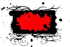 Blocco per grafici nero rosso Immagini Stock