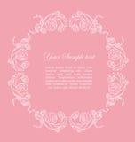 Blocco per grafici ornamentale con le rose Immagine Stock