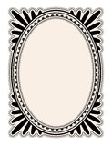 Blocco per grafici ovale Fotografie Stock