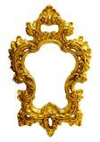 Blocco per grafici ovale decorato dell'oro Fotografia Stock Libera da Diritti