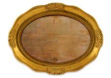 Blocco per grafici ovale dorato Immagine Stock