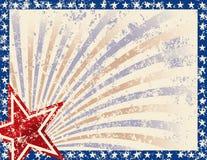 Blocco per grafici patriottico Immagine Stock