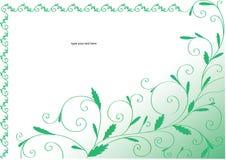 Blocco per grafici riccio verde con i fogli Immagini Stock Libere da Diritti