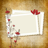 Blocco per grafici romantico illustrazione di stock