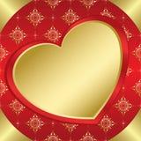 Blocco per grafici romantico con cuore ed il tracery Fotografia Stock Libera da Diritti