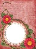 Blocco per grafici romantico con i fiori Fotografia Stock Libera da Diritti
