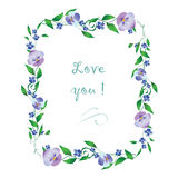 Blocco per grafici romantico del fiore Immagine Stock