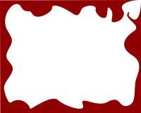 Blocco per grafici rosso Immagine Stock