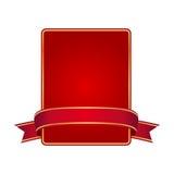 Blocco per grafici rosso con la bandiera Fotografia Stock