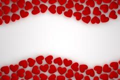 Blocco per grafici rosso del cuore illustrazione di stock