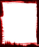 Blocco per grafici rosso della spazzola Fotografia Stock Libera da Diritti
