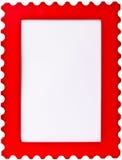Blocco per grafici rosso di immagine della foto del bollo Fotografia Stock Libera da Diritti