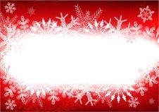 Blocco per grafici rosso di inverno Fotografie Stock Libere da Diritti